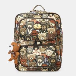 Women Bear Pattern Large Capacity Backpack