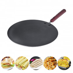 30CM Aluminum Flat Crepe Maker Pan Non Stick Baking Pancake Pan Frying Griddle