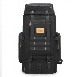 IPRee 80L Canvas Tactical Backpack Waterproof Travel Bag Unisex Hiking Climbing Rucksack