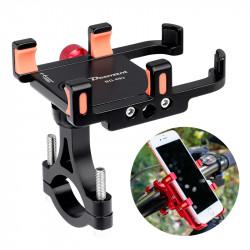 "BIKIGHT 360 Rotation 3.5-6.5"" Adjustable Alloy Mount Bicycle Handlebar Phone Rack GPS Phone Holder Scooter E-bike Bracket"""