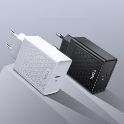 TOPK 18W PD QC3.0 Quick Charging Type C Charger EU Plug Adapter For Xiaomi Mi9 MacBook HUAWEI Mate 30 Pro G Note10+ 5G Pocophone F1