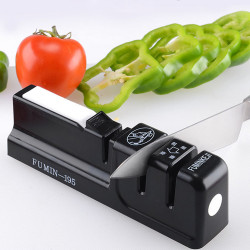 KCASA-M19 3 Stages Cutter Sharpener Kitchen Tool With Sharpening Tungsten Steel Ceramic Whetstone Accessories