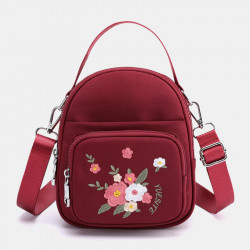 Women Fashion Embroidery Shoulder Bag Crossbody Bag