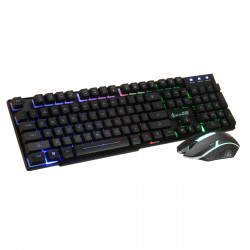 D280 104Key RGB Backlit Light Wired Mechanical Gaming Keyboard and 1600 DPI Gaming Mouse Set
