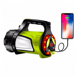 10000LM 4Modes Powerful LED Flashlight Emergency Power Bank Hiking Camping Light Warning Work Lamp