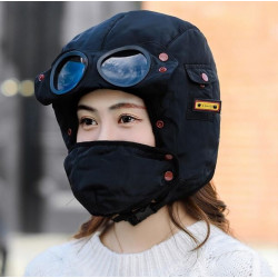 Multi-function Cold-proof Mask Hat Skiing Cycling Warm Mask Cap With Sunglasses