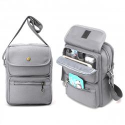 Men Multifunctional Canvas Crossbody Bag Handbag