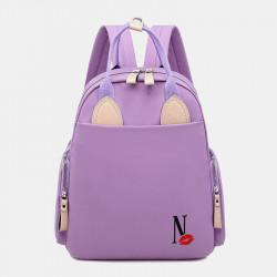 Women Waterproof Light Weight Cartoon Casual Backpack School Bag