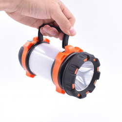 200W 2000LM 4800mah 200m Long Range Rechargeable LED Flashlight Super Bright Lantern Portable Fishing Searching Light