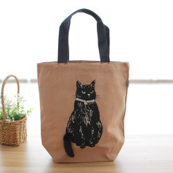 Women Large Capacity Casual Nylon Light WeightCute Cat Bag Handbag  For Outdoor Shopping