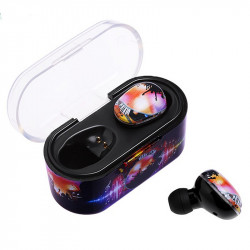 Bakeey M12 Colorful bluetooth 5.0 Touch Control Wireless Headset In-ear Sports Earphone With Mic Charging Box
