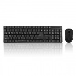 800-1200-1600DPI Adjustable 2.4 GHZ Wireless Korean Keycaps Keyboard and Mouse Combo for Play Gaming Office