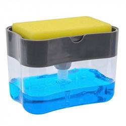 KCASA X1-30001 Soap Pump Cleaning Sponge Caddy Kitchen Manual Press Soap Pump Liquid Hand Wash Bathroom Shower Gel Pump Manual Pressing Soap Dispenser
