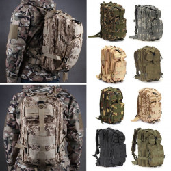 IPRee 30L Outdoor Tactical Backpack Bag 600D Nylon Waterproof Camouflage Trekking Rucksack