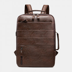 Multifunctional Large Capacity Backpack Laptop Bag With USB Charging Port For Business