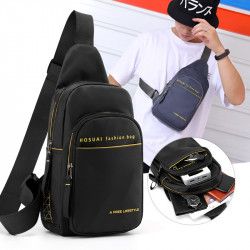Men Fashion Large Capcacity Light Weight Nylon Crossbody Bag Chest Bag