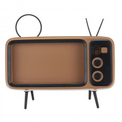 Speaker bluetooth TV Shape Phone Holder Wireless Speaker Retro TV Mini Portable Bluetooth Speaker Mobile Phone Holder USB Charging