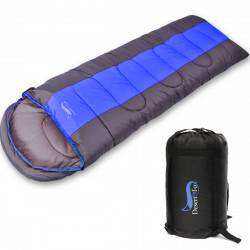 IPRee Outdoor Waterproof Camping Hiking Suit Case Envelope Adult 4 Season Warm Sleeping Bag Sleeping Sack Zip With Carry Bag