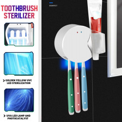 Ultraviolet Disinfection Toothbrush Rack Toothpaste Shelf Toothbrush Sterilizer