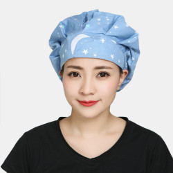 Surgical Caps Scrub Cap Cotton Fabric Nurse Hat