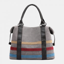 Women Patchwork Canvas Handbag Crossbody Bag
