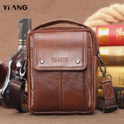 Men Genuine Leather Handbag Shoulder Bag Crossbody Bag Phone Bag Waist Bag