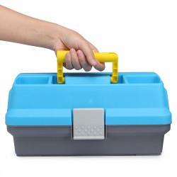 ZANLURE 30x18x15cm Multifunctional Fishing Box Portable 3 Layers Fishing Bait Tackle Storage Case