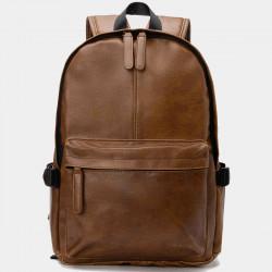 Vintage PU Leather Backpack School College Bookbag Laptop Computer Backpack Daypack