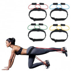 15-35lb Adjustable Fitness Resistance Bands Elastic Band Butt Legs Muscle Training Band