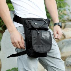 Men Multifunctional Fashion Nylon Leg Pouch For Travel Sports Waist Bag