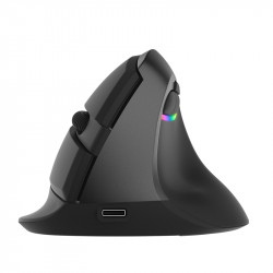 Delux M618mini bluetooth 4.0 + 2.4GHz Dual Mode Wireless Vertical Mouse 2400DPI Ergonomic Rechargeable Silent click Mice For PC Computer