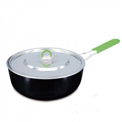BRS-P26 Multi-function Folding Pot Outdoor Camping Pot Picnic BBQ Tableware