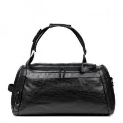 Unisex Leather Shoulder Bag Men Travel Business Bag Laptop Backpack Casual Handbag