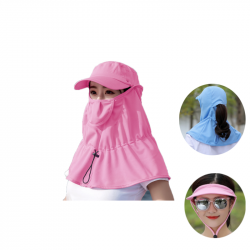 Outdoor Fishing Hat Removable 360 Protection Face Neck Anti-UV Fisherman Bucket Hat
