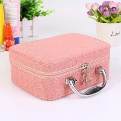 With Mirror Cosmetic  Case  Cosmetic Bag Ladies Storage Boxes