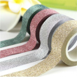 15Mm * 5M Glitter Washi Tape Set Japanese Stationery Scrap