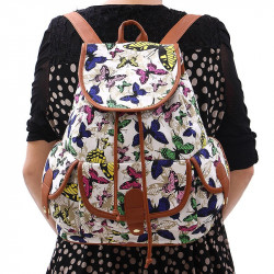Canvas Backpack Travel Bag Canvas Bag Women'S Backpack
