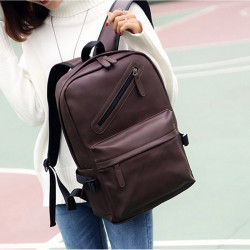 Female Pu Leather Women'S Backpack Bag S Travel Bag Back