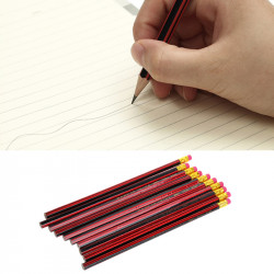 10Pcs Hb Pencil Set With Eraser Tips Unsharpened Stationery