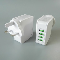 4-Port 4.4A Max Usb Charger Adapter Phone Travel Fast Charge