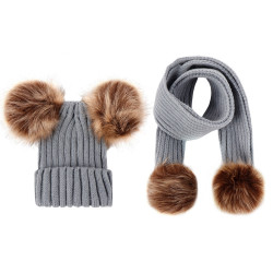 Baby Hat  Scarf Set Children Warm Hat S And Scarves Woven Wear