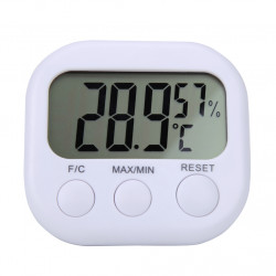 Digital Lcd Indoor Weather  Station Hygrometer Thermometer El