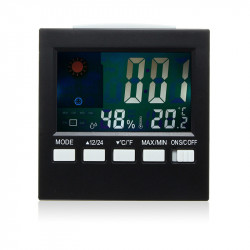 Lcd Hygrometer Weather  Station Tester Clock Alarm Snooze Fun