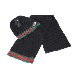 001 #   Hat And Scarf Two-Piece Winter Hat And Scarf For Men And Women
