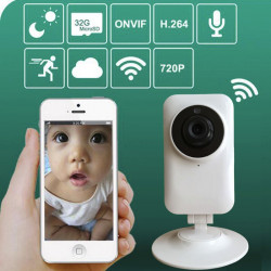 2.4Ghz Wireless Wifi Baby Monitor 720P Ip Camera Bebe