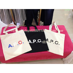 Japanese Single Apc Shopping  Bag Canvas Bag Hand Bag Shoulder Bag Apc Printed Letter Student School Bag